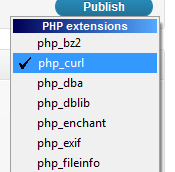 Enabling cURL in PHP
