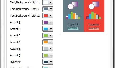 Export Powerpoint Theme Colours & Changing Default Color Palette